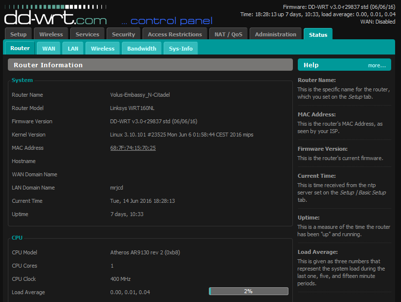 DD-WRT Forum :: View topic - New Build - 06/06/2016 - r29837